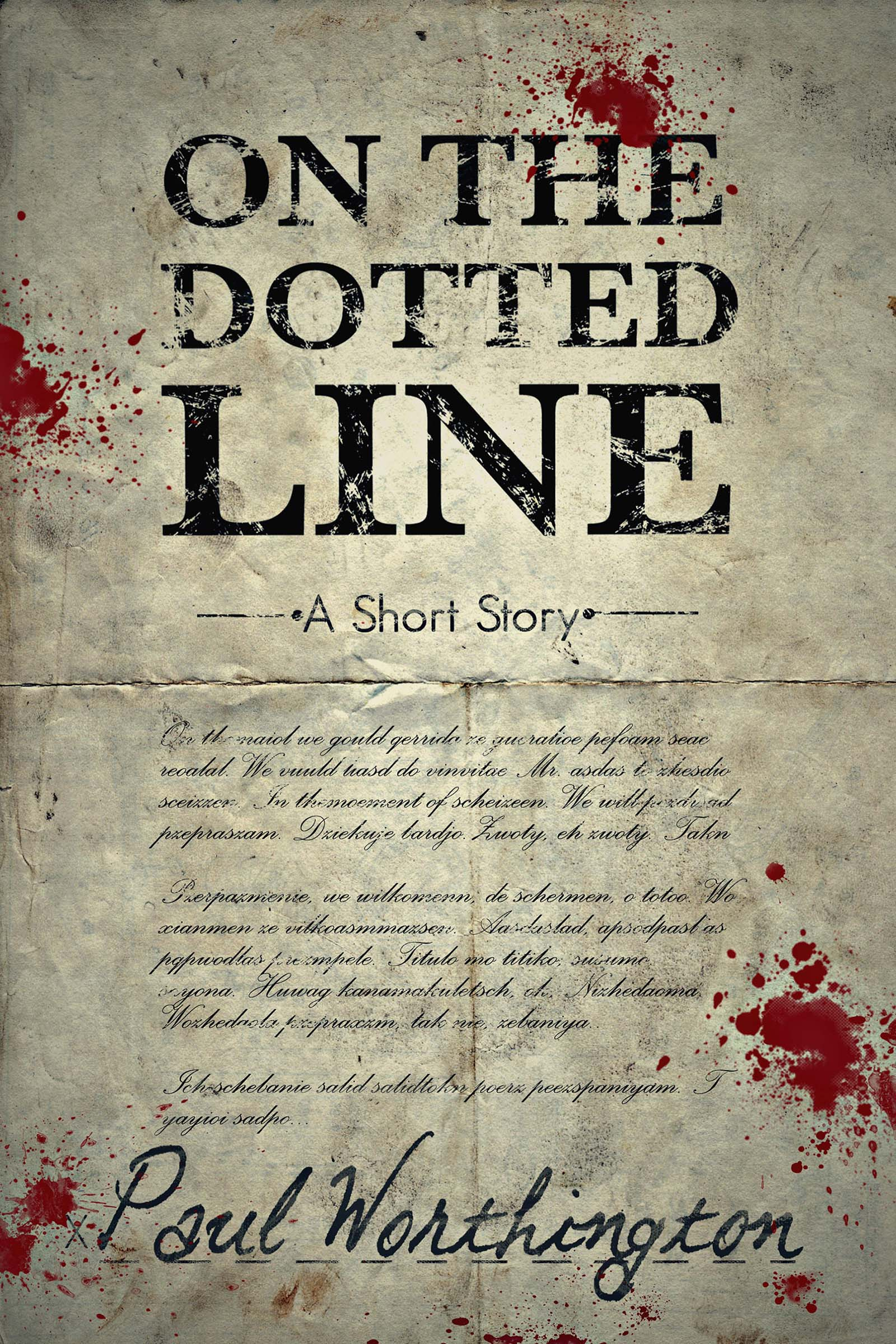 On The Dotted Line – A Short Story Mystery